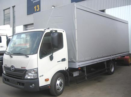 Бортовой фургон HINO 300 XZU720L до 8т