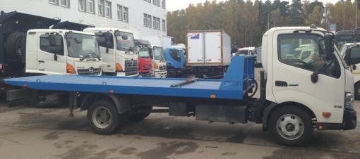 Эвакуатор HINO 300 XZU720L до 8т Сдвижная платформа